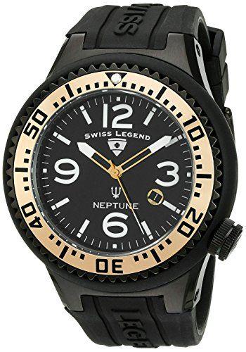 SWISS LEGEND NEPTUNE HERREN 52MM SCHWARZ KAUTSCHUK ARMBAND UHR 21818P-BB-01-GA - http://uhr.haus/swiss-legend/swiss-legend-neptune-herren-52mm-schwarz-armband