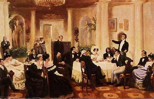 In the salon of Zenaida Volkonskaya - Grigoriy Myasoyedov