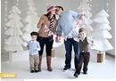 Рождественская семейная фотосессия от Millie Holloman | 39 фотографий
