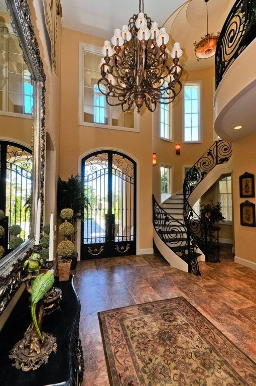 Mediterranean House Foyer : Ideas about iron doors on pinterest wrought