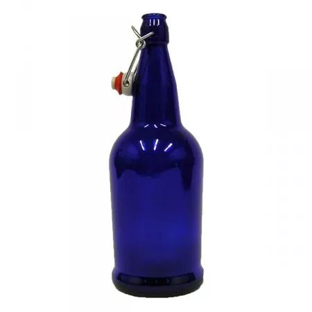 32 oz. Cobalt Glass Bottles with EZ Cap Swing Tops