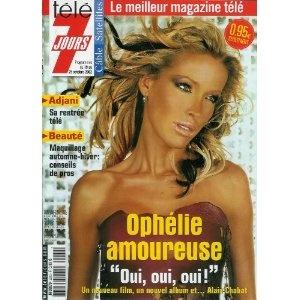 Ophélie Winter amoureuse : un nouveau film, un nouvel album et... Alain Chabat, dans Télé 7 jours (n°2212) du 19/10/2002 [couverture et article mis en vente par Presse-Mémoire]