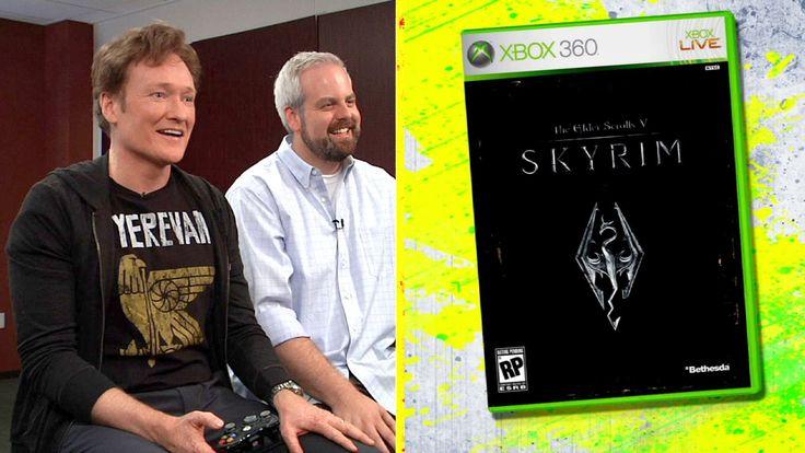 """Conan O'Brien Reviews """"Skyrim"""" - Clueless Gamer - CONAN on TBS"""
