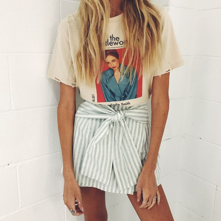 the striped tie skirt