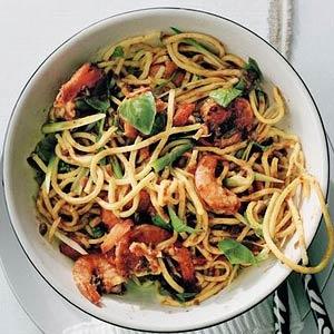 Recept - Spaghetti met garnalen & mexicaanse peper - Allerhande