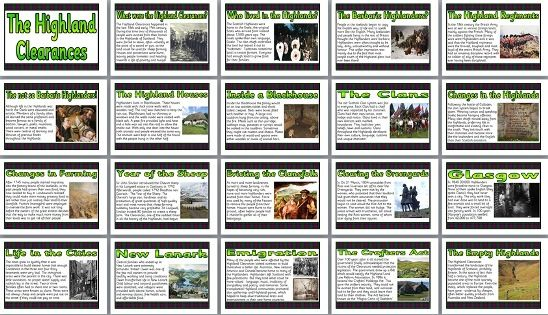 KS1 and KS2 Scottish History Teaching Resource - The Highland Clearances printable classroom display posters for primary schools