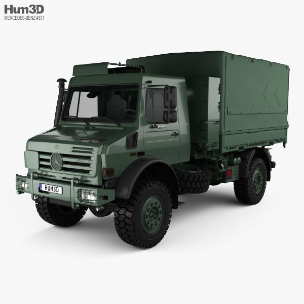 Mercedes-Benz Unimog U5000 Military Truck 2002 3d model from Hum3d.com.