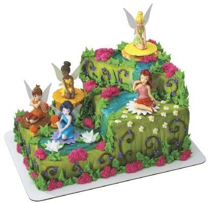 Baskin Robbins ice cream cake...use this shape, take off fairies, put on Lion King figures :)