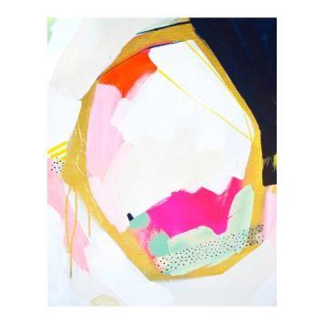 Leinwand Britt Bass Turner, Baumwoll-Leinwand, Mehrfarbig, 50x40x4.5 cm