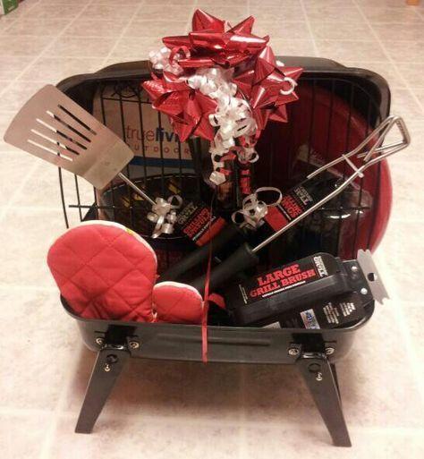 BBQ gift basket -I got so many compliments on this...http://anenchantedimagination.blogspot.com/ #babygiftbaskets