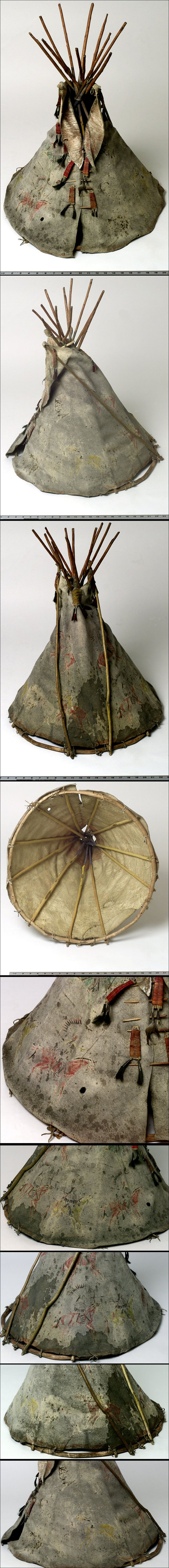 Lakota game (tipi toy), from Fr. Bucherel Collection