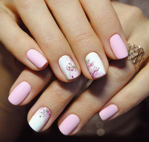 blanco & rosa con flores