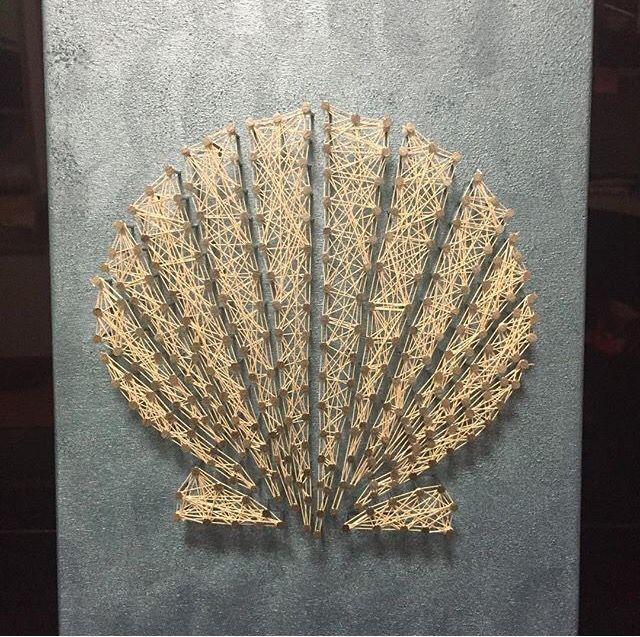 Seashell string art                                                                                                                                                                                 More