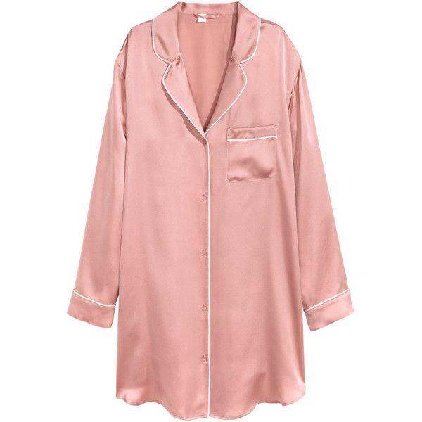 Silk Nightshirt $129 ($129) ❤ liked on Polyvore featuring intimates, sleepwear, nightgowns, long sleeve night shirt, long sleep shirts, silk nightshirt, button sleep shirt and long nightgowns