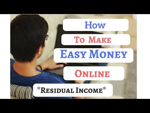 How To Make Easy Money Online. Creating Residual Income -  http://www.wahmmo.com/how-to-make-easy-money-online-creating-residual-income/ -  - WAHMMO
