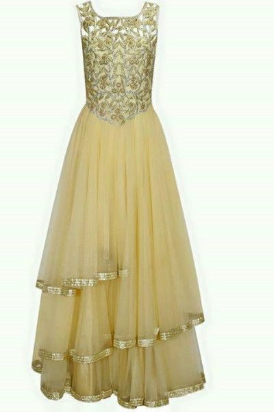 Navratri special Superb suits AND GOWN COMBO SUPERB FINISHING AND SHINING COLOUR: CHIKU TOP: GEORGETTE BOTTOM :SANTOON DUPPATA: NET INNER : SANTOON Work:HEAVY SEQUEINSEmbroidery RATING: 5 STAR Season: Any Occasion: Bollywood Style,Party Wear,