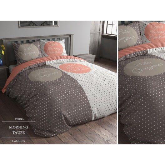 Vzorované bielo oranžové posteľné obliečky