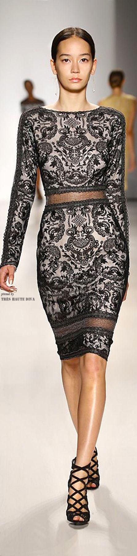 Tadashi Shoji ~ Long Sleeve Black Lace Dress