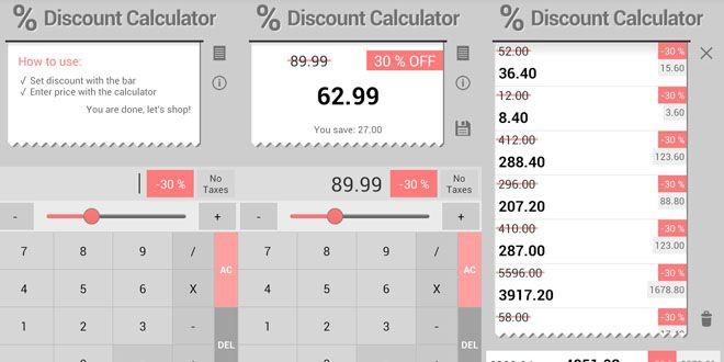 Una aplicación para calcular el porcentaje de descuentos http://j.mp/1dHS157 |  #Android, #Aplicación, #Apps, #CalculadoraDeDescuentos, #Descuentos