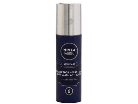 Crema Nivea men active age antiarrugas en una oferta excepcional. Fluido hidratante regenerador de noche. Amanece con otra cara.