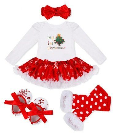 4PC My First Christmas Outfit Tutu Dress Leg Warmers Matching Shoes and Headband #thelittlegirlsstore #christmasinjuly #christmas2017 #littlegirls #babychristmas #firstchristmas #christmasparty #photooftheday #follow #christmas #little #girl #girls #clothes #followme #instdaily #baby #cool