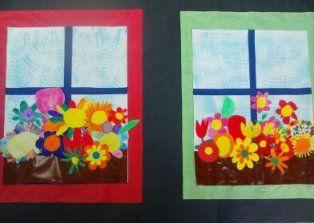 Arriba la primavera al mural de l'escola