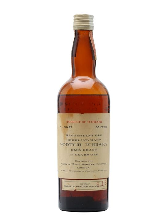 Glen Grant 15 Year Old / Army & Navy Stores / Bot.1940s Scotch Whisky : The Whisky Exchange