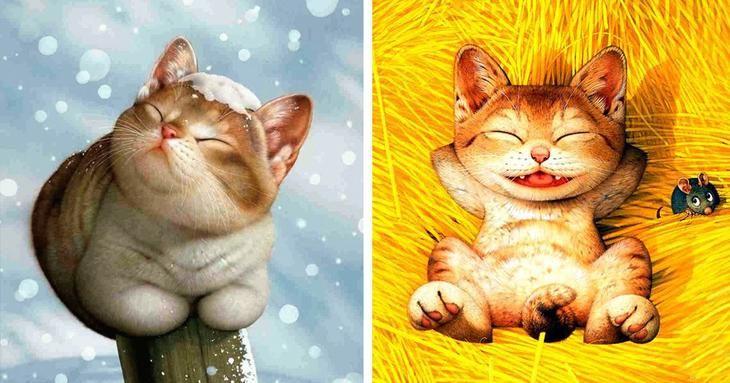 10 художников, чьи сердца похищены котами
