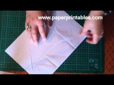 how to print on tissue paper. the ONLY tutorial that worked for me. plus she has a fun accent :)