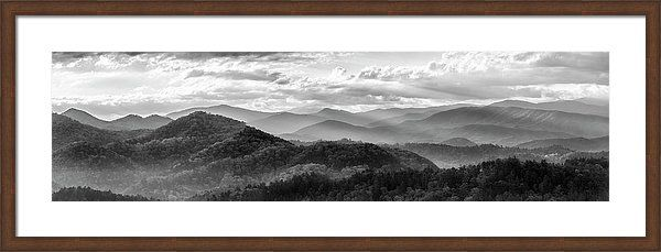 Art Framed Print featuring the photograph Layers In The Smokies by Jon Glaser