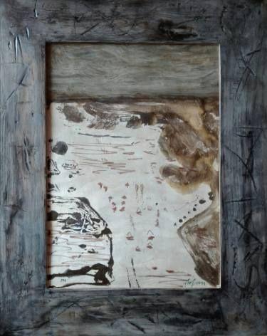 """Saatchi Art Artist remus-lucian stefan; Painting, """"Morning beach"""" #art"""