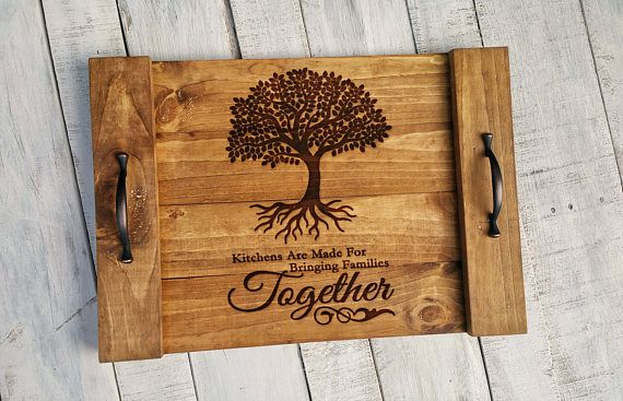 Family Tree Art  5th Anniversary Gift for Her  Rustic Wood