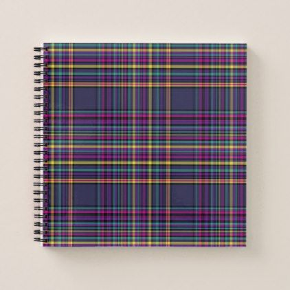 Bright plaid notebook  $15.95  by TropicSea  - cyo diy customize personalize unique