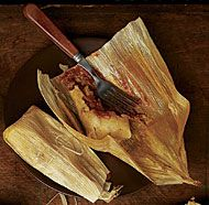 Pork Tamales with Double-Chile Sauce