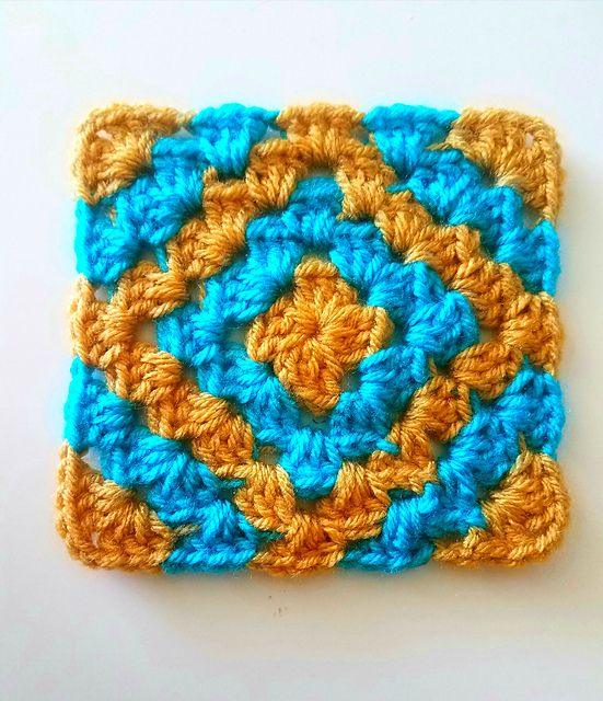 Ravelry: Boho diamond granny square pattern by Six Hampton Crochet