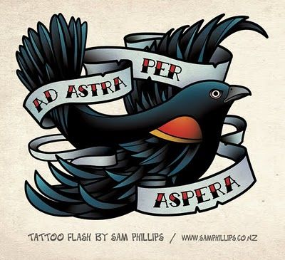 Sams Blog: Red Winged Black Bird Tattoo