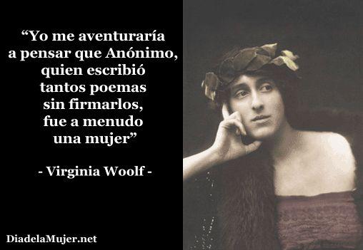 Día de la Mujer - Virginia Woolf