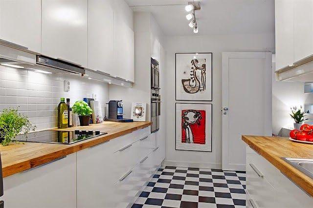 Piso quadriculado na cozinha...Use sem medo! Conheça as várias possibilidades deste piso.