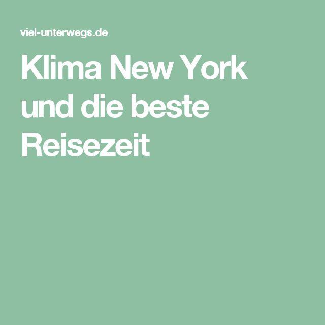 Klima New York und die beste Reisezeit