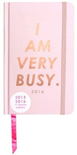 BAN.DO 'Classic - I Am Very Busy' Hardcover17-Month Agenda