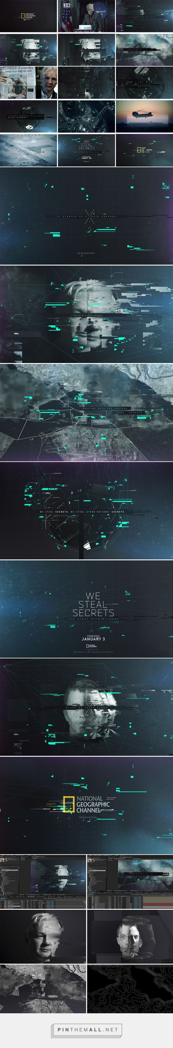 Nat Geo - We Steal Secrets: The Story of Wikileaks on Behance... - a grouped images picture - Pin Them All