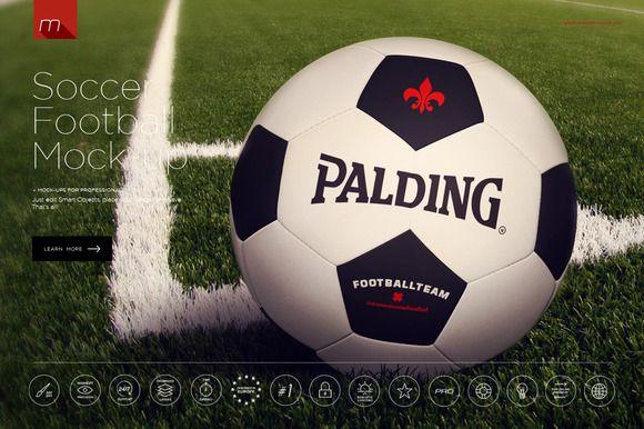 Football Soccer Ball MockUp By Mesmeriseme On Creative Market