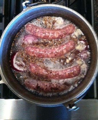 Bobby Flays Beer-Simmered Bratwurst Recipe - Food.com