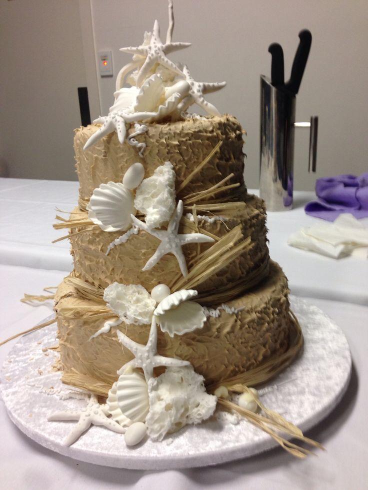Wedding cake from Surf Club Wedding Reception. Yeners cake (choc fudge mud cake) yum!!!!!!