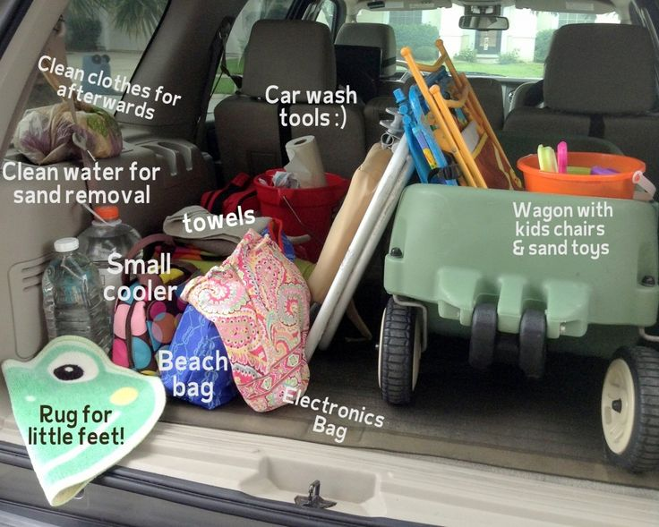 How to pack for the beach with kiddos - I would add baby powder to remove the sand