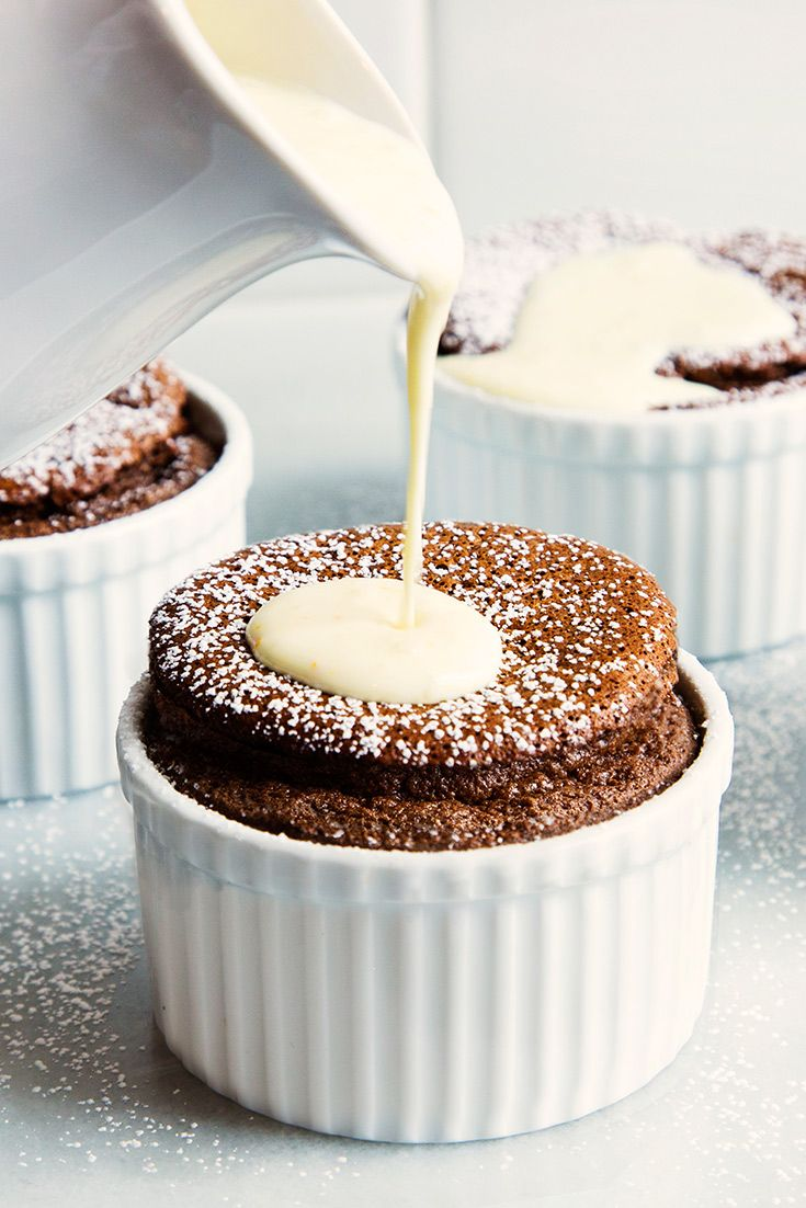 Chocolate-Orange Souffle for Susan   A bright orange sauce covers this rich chocolate soufflé from Jacques Pépin.
