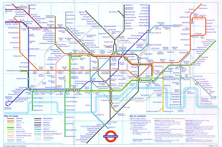 london tube map 1994