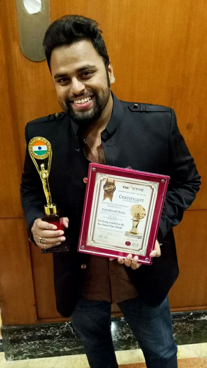 Danish Khan Wins Award for Best Shortfilm Aatankwadi Kaun. Best Short film maker Danish Khan