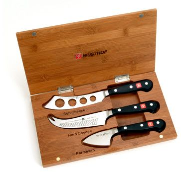 Wusthof Classic Three Piece Bamboo Cheese Set - contemporary - cheese knives - CutleryAndBeyond