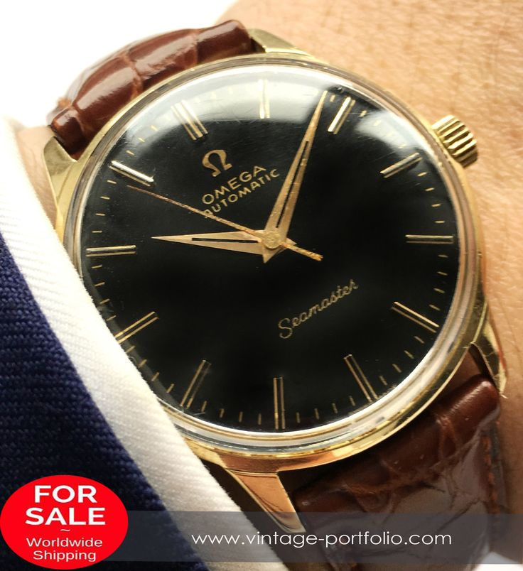 Serviced Omega Seamaster Automatic Solid Gold #omega #omegawatch #omegageneve #omegagenève #omegagenevewatch #vintagewatch #oldwatch #swiss #swissmade #automatic #automaticwatch omegadeepblack #deepblack #blackdial